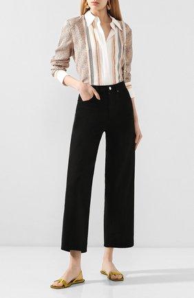 Женские текстильные сандалии ryder ALEXANDER WANG желтого цвета, арт. 30C120B060   Фото 2