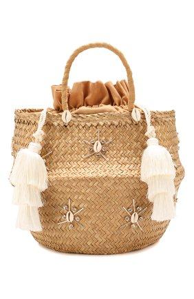 Женская сумка carol xl LE NINE бежевого цвета, арт. S3-00030/ARGENT/TUBE TAS | Фото 1