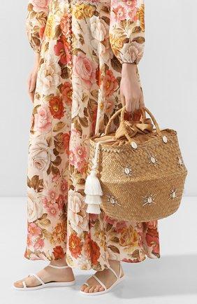 Женская сумка carol xl LE NINE бежевого цвета, арт. S3-00030/ARGENT/TUBE TAS | Фото 2