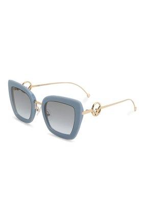 Мужские солнцезащитные очки FENDI голубого цвета, арт. 0408 PJP | Фото 1
