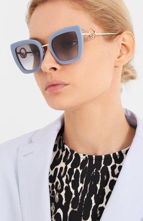 Мужские солнцезащитные очки FENDI голубого цвета, арт. 0408 PJP | Фото 2