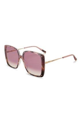 Женские солнцезащитные очки MISSONI розового цвета, арт. MIS0002 0BL | Фото 1