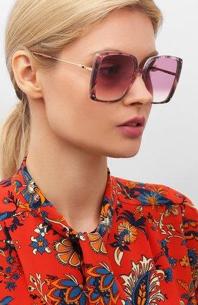 Женские солнцезащитные очки MISSONI розового цвета, арт. MIS0002 0BL | Фото 2