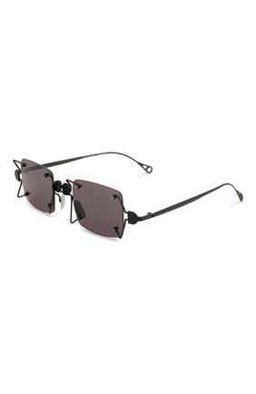 Женские солнцезащитные очки INNERRAUM черного цвета, арт. 097 BM GREY | Фото 1