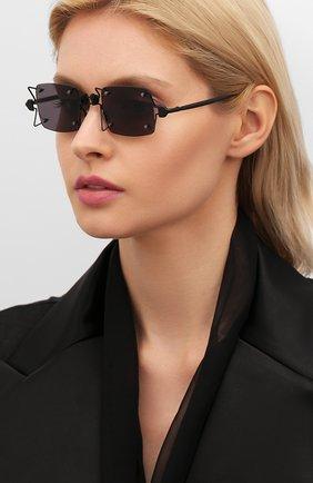 Женские солнцезащитные очки INNERRAUM черного цвета, арт. 097 BM GREY | Фото 2