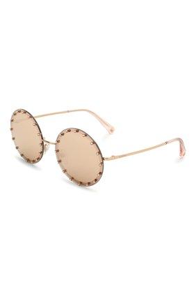 Женские солнцезащитные очки VALENTINO золотого цвета, арт. 2010B-3058E0 | Фото 1