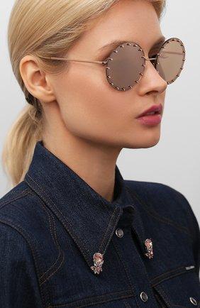 Женские солнцезащитные очки VALENTINO золотого цвета, арт. 2010B-3058E0 | Фото 2
