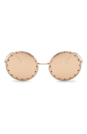 Женские солнцезащитные очки VALENTINO золотого цвета, арт. 2010B-3058E0 | Фото 3