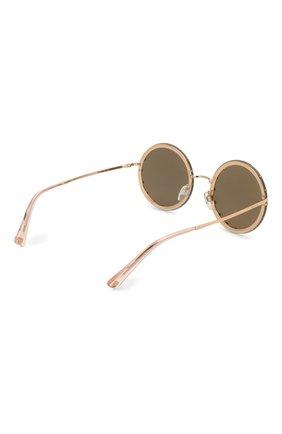 Женские солнцезащитные очки VALENTINO золотого цвета, арт. 2010B-3058E0 | Фото 4