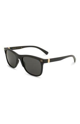 Женские солнцезащитные очки DOLCE & GABBANA черного цвета, арт. 6139-252587 | Фото 1