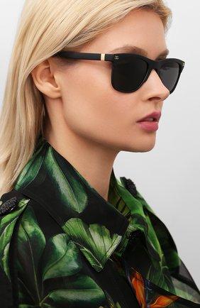 Женские солнцезащитные очки DOLCE & GABBANA черного цвета, арт. 6139-252587 | Фото 2