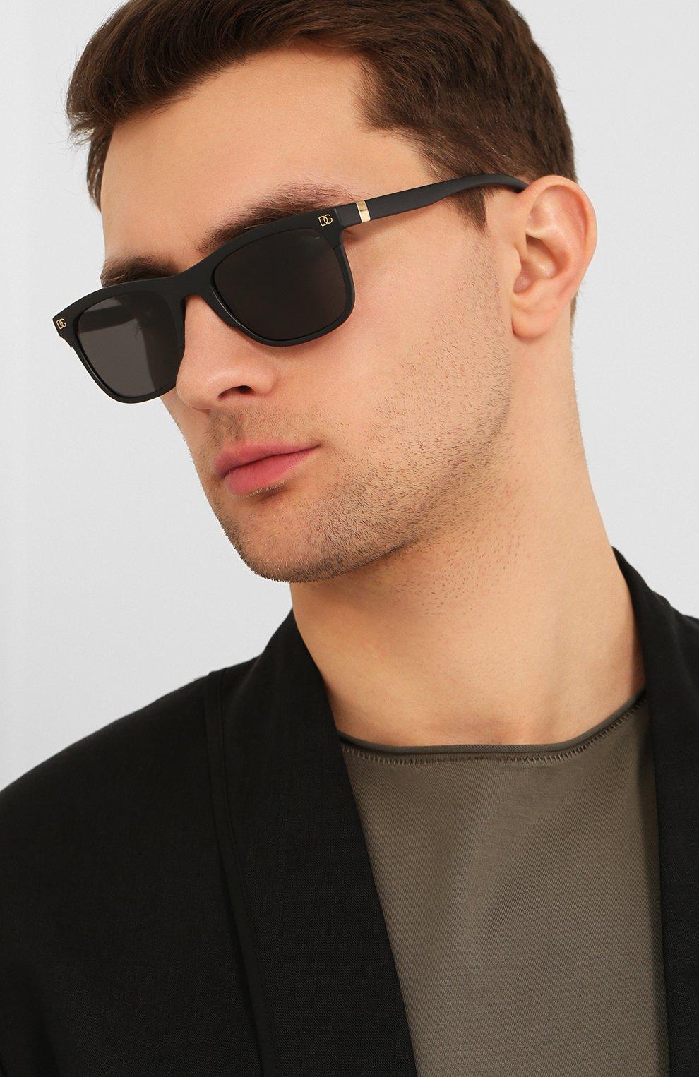 Женские солнцезащитные очки DOLCE & GABBANA черного цвета, арт. 6139-252587 | Фото 3