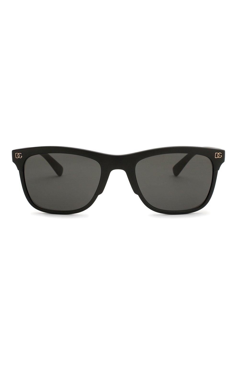 Женские солнцезащитные очки DOLCE & GABBANA черного цвета, арт. 6139-252587 | Фото 4