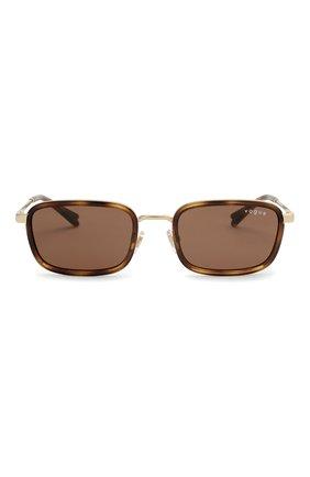 Женские солнцезащитные очки VOGUE коричневого цвета, арт. 4166S-848/73 | Фото 4