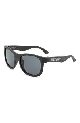 Детские солнцезащитные очки BABIATORS черного цвета, арт. NAV-010 | Фото 1