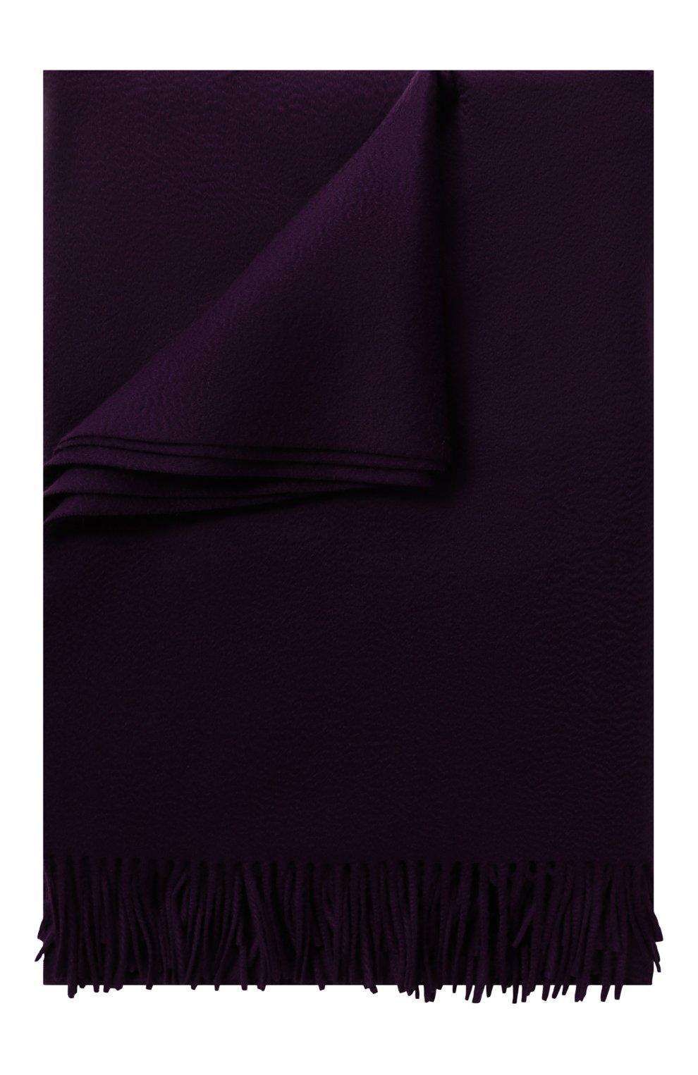 Мужского кашемировый плед LORO PIANA фиолетового цвета, арт. FAA1158   Фото 1