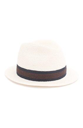 Мужская шляпа fedora ERMENEGILDO ZEGNA белого цвета, арт. Z7I21/B7Q | Фото 1