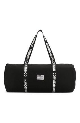 Мужская текстильная дорожная сумка COMME DES FUCKDOWN черного цвета, арт. CDFA10NB | Фото 1