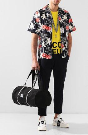 Мужская текстильная дорожная сумка COMME DES FUCKDOWN черного цвета, арт. CDFA10NB | Фото 2