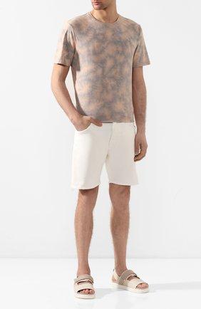 Мужские кожаные сандалии INUIKII бежевого цвета, арт. 50105-23 | Фото 2