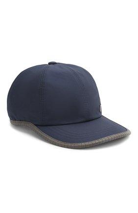 Мужской шелковая бейсболка ZILLI темно-синего цвета, арт. MHT-CAP05-J0023/0002 | Фото 1