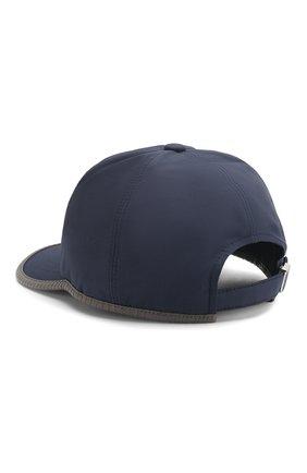 Мужской шелковая бейсболка ZILLI темно-синего цвета, арт. MHT-CAP05-J0023/0002 | Фото 2