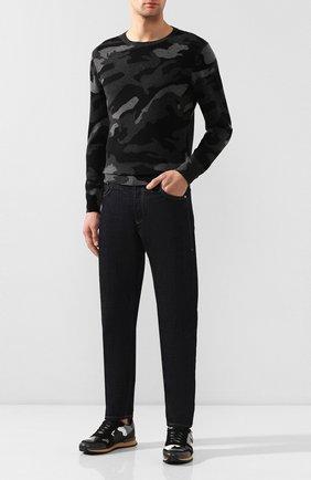 Мужской кашемировый джемпер VALENTINO серого цвета, арт. LV3KC00F/2E3 | Фото 2