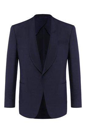 Мужской шелковый пиджак RALPH LAUREN темно-синего цвета, арт. 798794568 | Фото 1