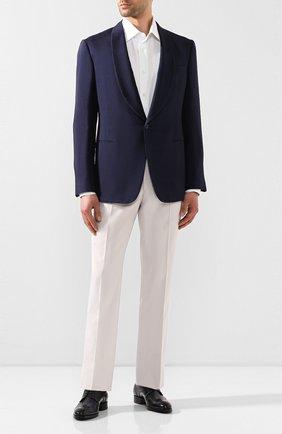 Мужской шелковый пиджак RALPH LAUREN темно-синего цвета, арт. 798794568 | Фото 2