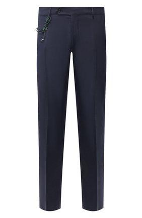 Мужской брюки из смеси шерсти и хлопка BERWICH темно-синего цвета, арт. SC/1/LR120U | Фото 1