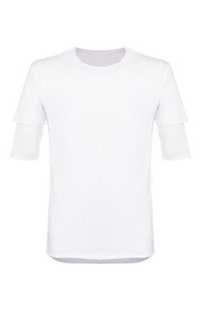 Мужская хлопковая футболка KAZUYUKI KUMAGAI белого цвета, арт. AJ01-216 | Фото 1
