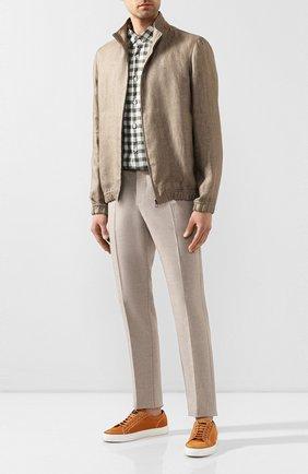 Мужская льняная рубашка VAN LAACK зеленого цвета, арт. LAD0N1-TFW/156407   Фото 2