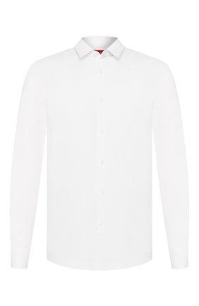 Мужская хлопковая сорочка HUGO белого цвета, арт. 50431911 | Фото 1