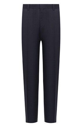Мужской шерстяные брюки BOSS синего цвета, арт. 50432161   Фото 1