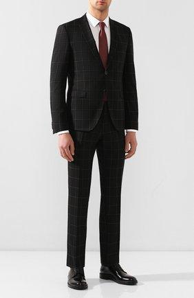 Мужской шерстяной костюм BOSS черного цвета, арт. 50432873 | Фото 1