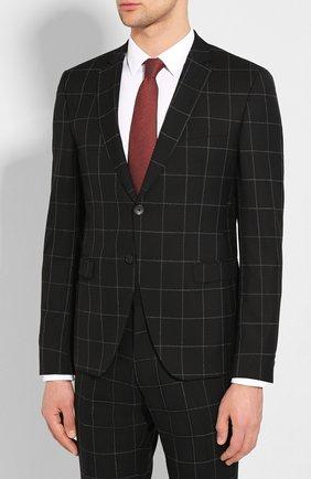 Мужской шерстяной костюм BOSS черного цвета, арт. 50432873 | Фото 2