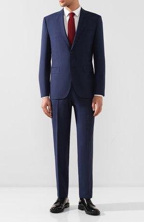Мужской шерстяной костюм BOSS синего цвета, арт. 50432981 | Фото 1