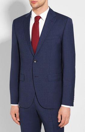 Мужской шерстяной костюм BOSS синего цвета, арт. 50432981 | Фото 2