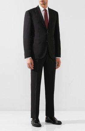 Мужской шерстяной костюм BOSS черного цвета, арт. 50432991 | Фото 1
