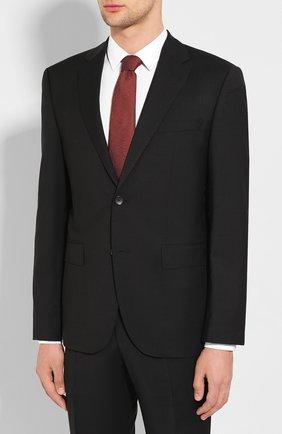 Мужской шерстяной костюм BOSS черного цвета, арт. 50432991 | Фото 2