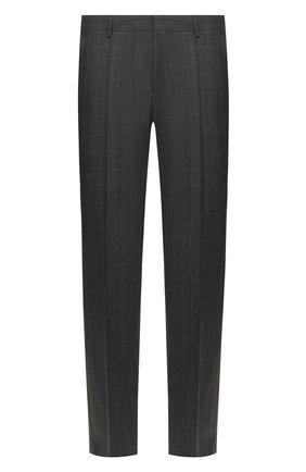 Мужской шерстяные брюки BOSS серого цвета, арт. 50432161   Фото 1