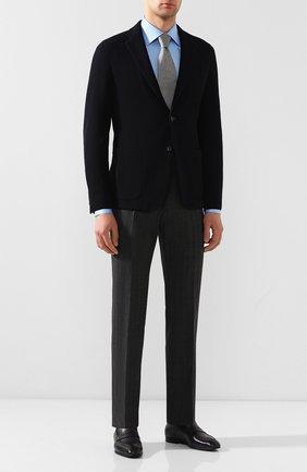 Мужской шерстяные брюки BOSS серого цвета, арт. 50432161   Фото 2