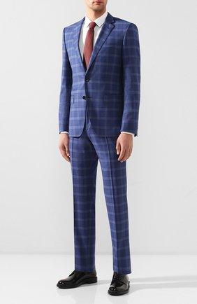 Мужской шерстяной костюм BOSS синего цвета, арт. 50432946 | Фото 1