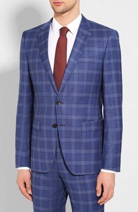Мужской шерстяной костюм BOSS синего цвета, арт. 50432946 | Фото 2