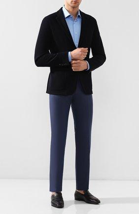 Мужской шерстяные брюки BERWICH темно-синего цвета, арт. SC/1 ALC/MZ1635 | Фото 2