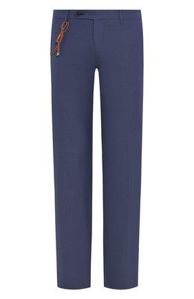 Мужской брюки из смеси шерсти и хлопка BERWICH темно-синего цвета, арт. SC/1/MZ1379X | Фото 1