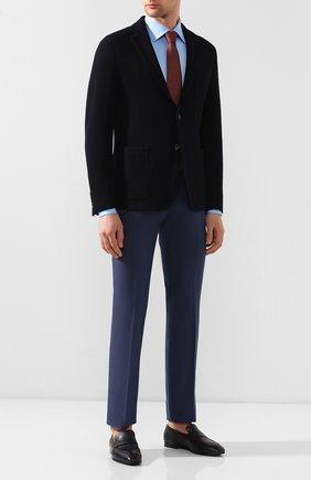 Мужской брюки из смеси шерсти и хлопка BERWICH темно-синего цвета, арт. SC/1/MZ1379X | Фото 2