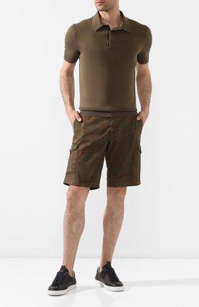 Мужские хлопковые шорты BERWICH темно-коричневого цвета, арт. BER_MUDA CARG0/CV0193X | Фото 2