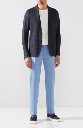 Мужской хлопковые брюки BERWICH голубого цвета, арт. VULCAN0/MX011X | Фото 2