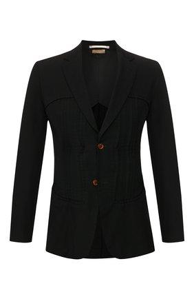 Мужской пиджак COMME DES GARCONS HOMME PLUS черного цвета, арт. PE-J055-051 | Фото 1